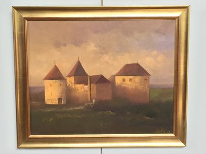 クロアチア画家Bobikによる油絵