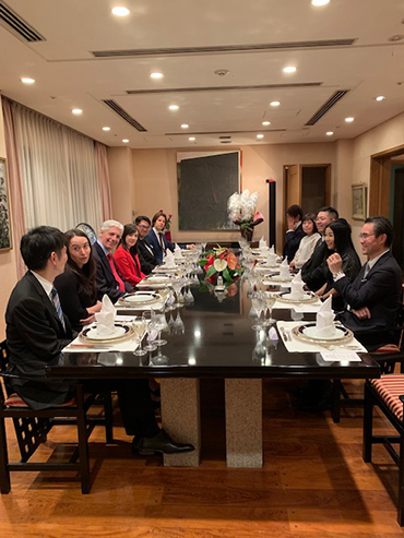 Dinner at the residence of the Ambassador of the Argentine Republic