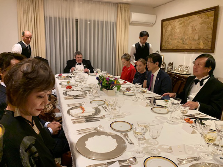 Banquet at the residence of the Ambassador